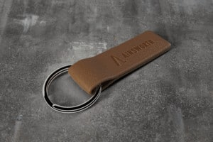 Ainsworth Leather Keychain Logo Mockup