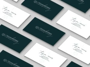 Business card grid
