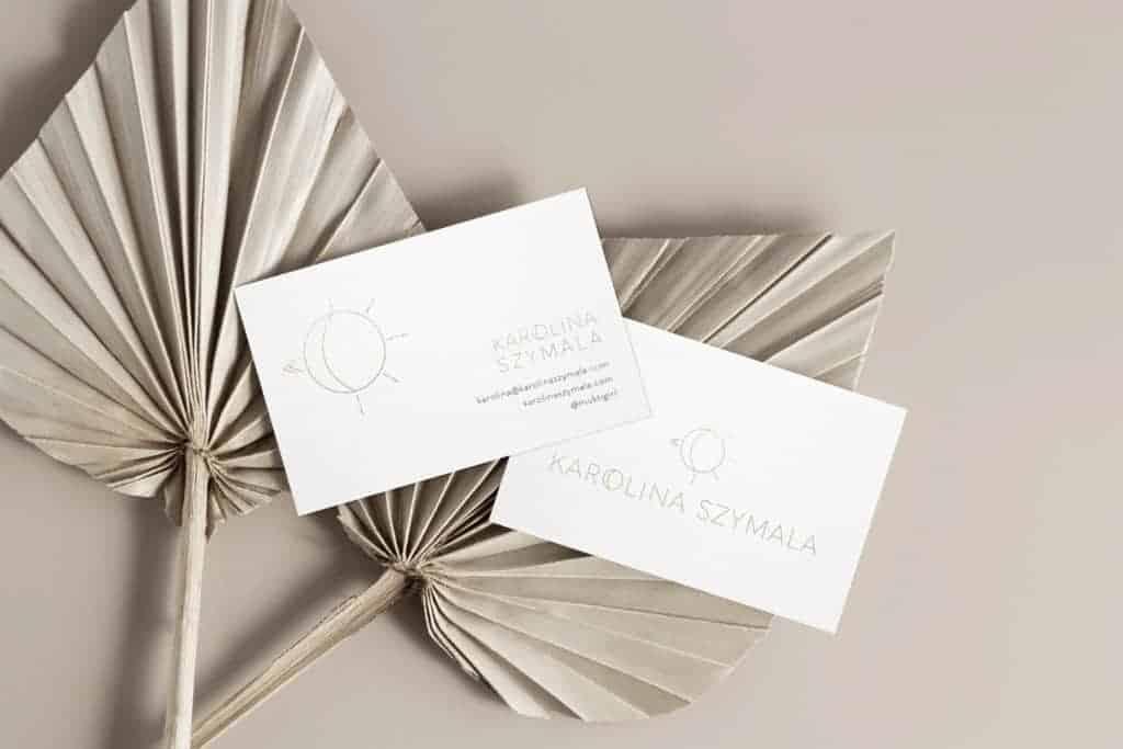 Karolina Szymala Business card Mockup