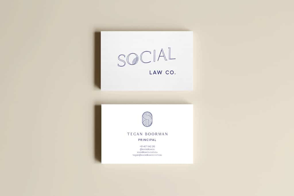 Social Law Co Business Card Mockup