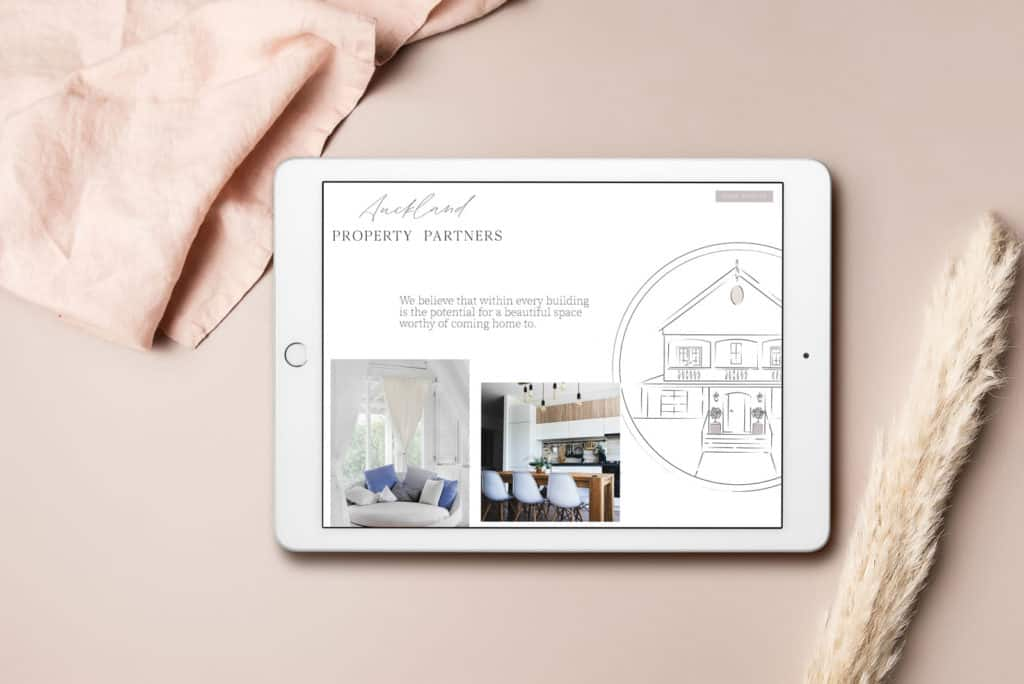 Auckland Property Partners Website Tablet View